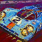 'Porsche Daytona Champion 917 at Night' Racing Porsche by Kelly Telfer