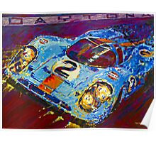 'Porsche Daytona Champion 917 at Night' Racing Porsche Poster