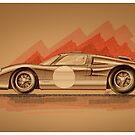 Ford GT40 - Digital Painting by David Jones