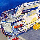 &#x27;Canepa Attacking the Corkscrew (935 Porsche)&#x27; Racing  by Kelly Telfer