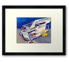 'Canepa Attacking the Corkscrew (935 Porsche)' Racing  Framed Print
