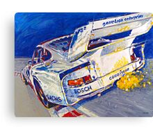 'Canepa Attacking the Corkscrew (935 Porsche)' Racing  Canvas Print