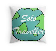 Solo Traveller Throw Pillow