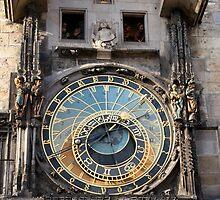 The Prague astronomical clock  by docnaus