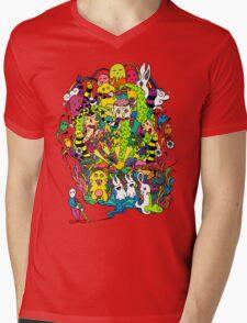 LSD Color Mens V-Neck T-Shirt