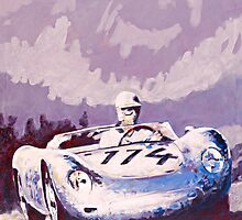 'Porsche 1957 RSK' Vintage Racing Spyder by Kelly Telfer