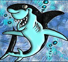 ©DigiArt Cartoon Shark I by OmarHernandez