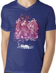 Dreaming Bear  Mens V-Neck T-Shirt