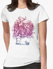 Dreaming Bear  Womens Fitted T-Shirt