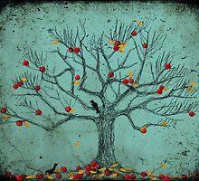 Autumn Apple Tree by EvaBridget