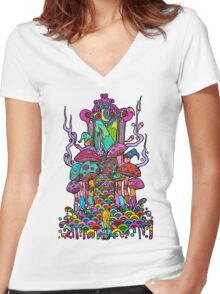Welcome to Wonderland Women's Fitted V-Neck T-Shirt