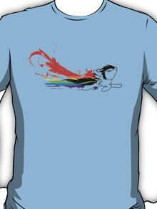 Rainbow Dash Splatter Trail T-Shirt