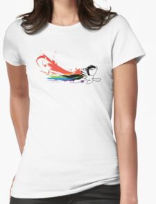 Rainbow Dash Splatter Trail Womens Fitted T-Shirt
