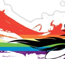 Rainbow Dash Splatter Trail Sticker