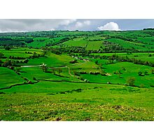 South West from Thorpe Cloud Summit  Photographic Print
