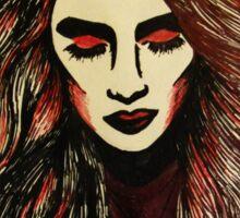 Lykke Li Black & Pink Illustration Sticker