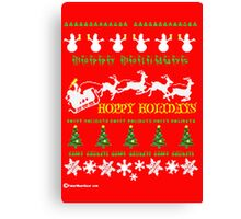 HAPPY HOLIDAY, MERRY CHRISTMAS Canvas Print