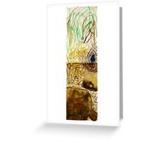 bower bird and bower Greeting Card