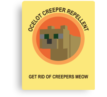 Get Rid Of Creepers Meow Canvas Print