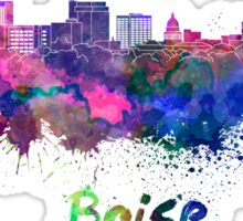 Boise skyline in watercolor Sticker