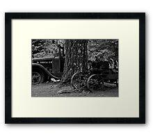 Abandoned Work Truck Framed Print