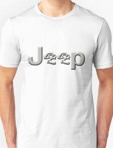 JEEP SKULLS Silver T-Shirt