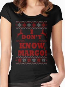 """Christmas Vacation - """"I DON'T KNOW, MARGO!"""" Color Version Women's Fitted Scoop T-Shirt"""