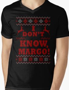 "Christmas Vacation - ""I DON'T KNOW, MARGO!"" Color Version Mens V-Neck T-Shirt"