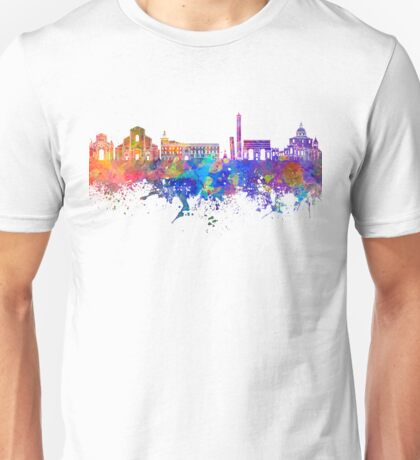 Bologna skyline in watercolor background Unisex T-Shirt