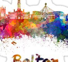 Bolton skyline in watercolor Sticker