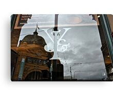 Icons in Reflection Canvas Print