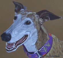 Ruby-Greyhound Commission by Anita Meistrell Putman