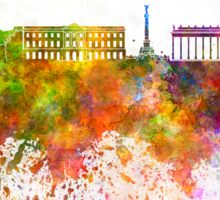 Bordeaux skyline in watercolor background Sticker