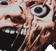 Garden of Delete Deluxe Vinyl Cover melting face W/text Sticker