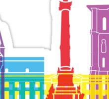 Bordeaux skyline pop Sticker