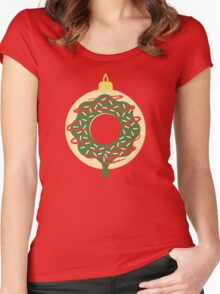 Christmas Doughnut Women's Fitted Scoop T-Shirt