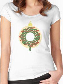 Christmas Doughnut Women's Fitted Scoop T-Shirt