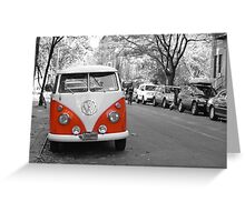 VW Van Greeting Card