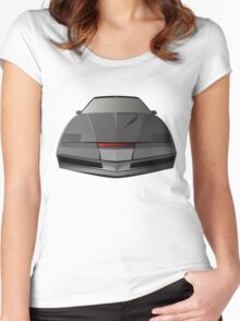 Knight Rider KITT Car  Women's Fitted Scoop T-Shirt
