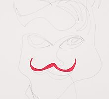 The Red Stache of Mr. Pitt by thespon