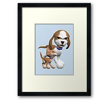 Brave Little Kitty  Framed Print