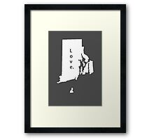 Rhode Island Love Framed Print