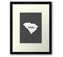 South Carolina Love Framed Print
