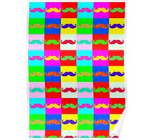 Mustache by Warhol Poster