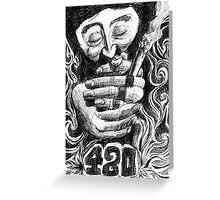 420 Greeting Card