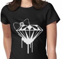 DIAMOND WITH A BOW TIE :D Womens Fitted T-Shirt