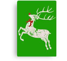 Vintage Christmas Rudolph the red nose Reindeer Canvas Print