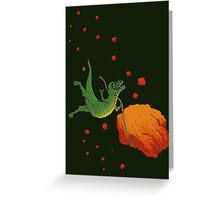 YOLO Dinosaur Lassoes an Asteroid Greeting Card