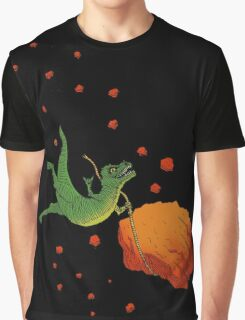 YOLO Dinosaur Lassoes an Asteroid Graphic T-Shirt