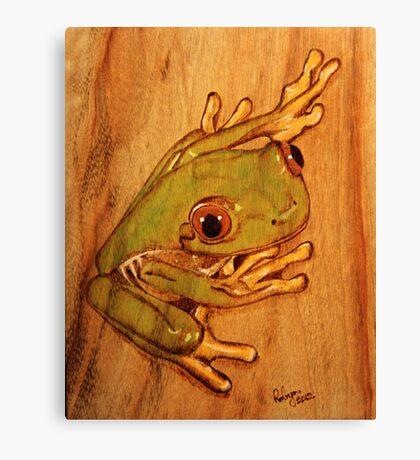 PYROGRAPHY: Tree Frog Canvas Print